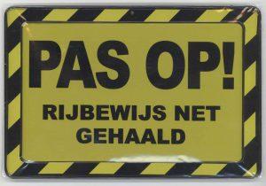 Rijbewijs nabij Terneuzen